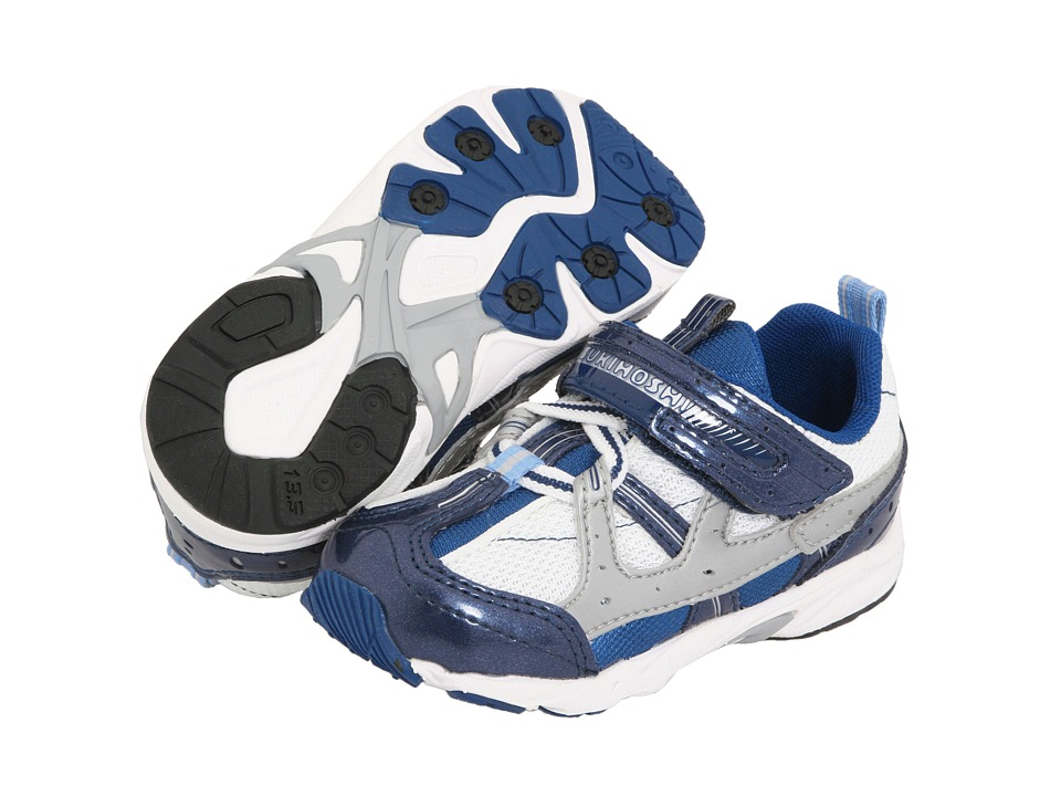 Tsukihoshi Kids - Speed (Toddler) (Navy/White) Boy's Shoes