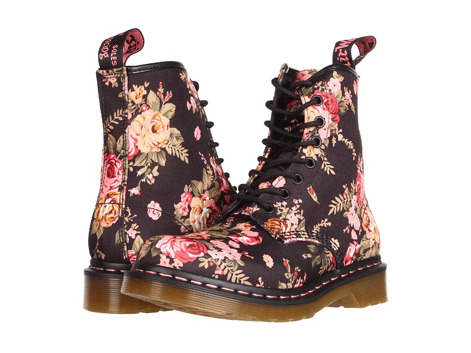 Dr. Martens - 1460 W (Black Victorian Flowers) Women's Lace-up Boots