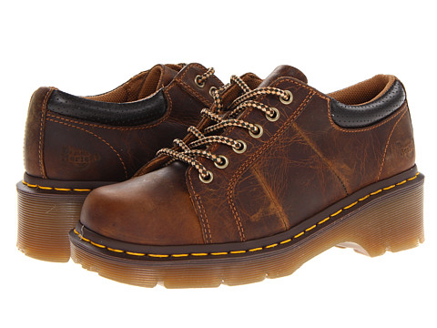 Dr. Martens - Melissa Plain Lace-To-Toe Shoe (Tan Greenland) Women's Lace up casual Shoes