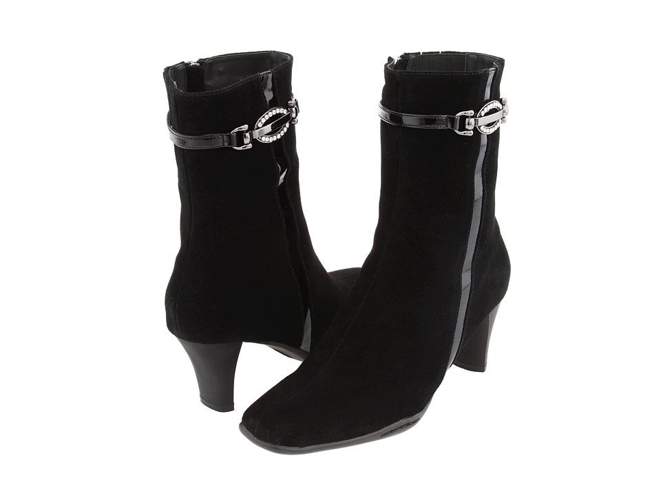 Santana - Bella (Black Suede) Women's Dress Zip Boots