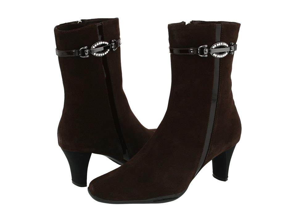Santana - Bella (Brown Suede) Women's Dress Zip Boots