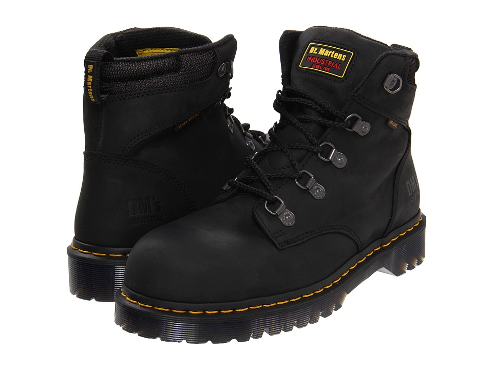 Dr. Martens Work - Holkham SD (Black Industrial Greasy) Men's Industrial Shoes