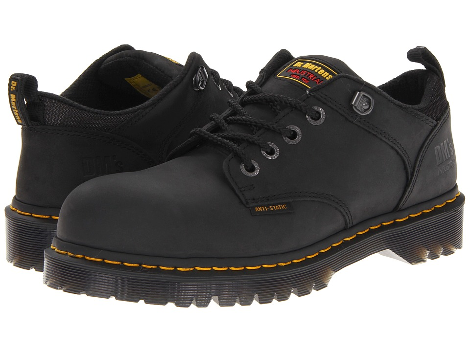 Dr. Martens - Ashridge SD (Black Industrial Greasy) Men's Industrial Shoes