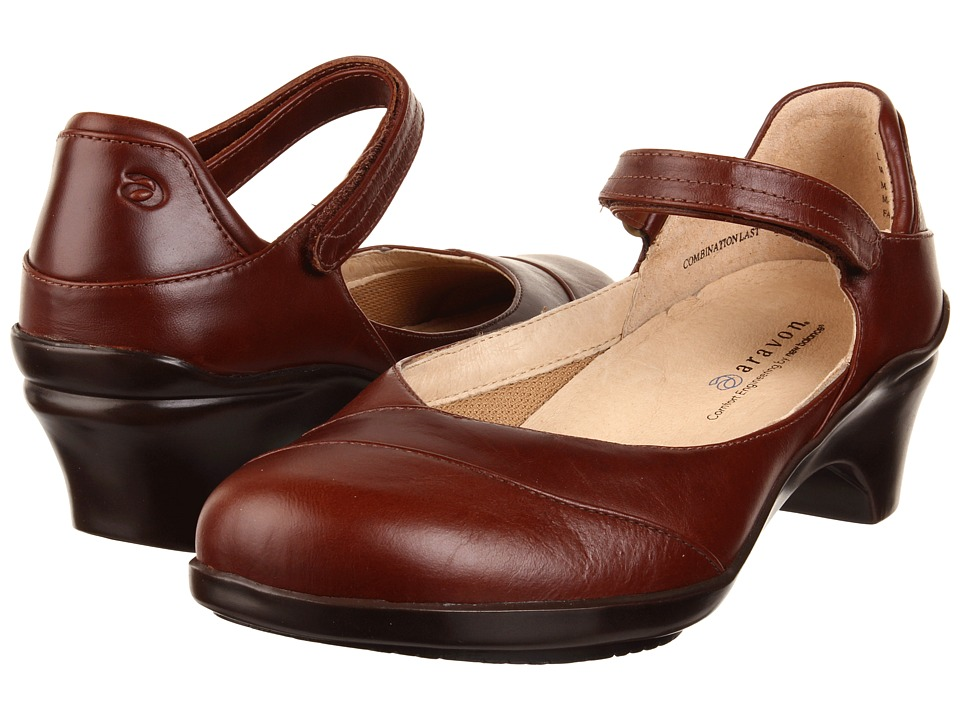 Aravon - Maya (Brown Leather) Women's Maryjane Shoes