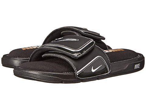 Nike - Comfort Slide 2 (Black/Metallic Silver/White) Men's Slide Shoes