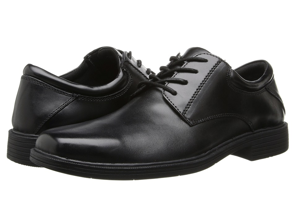 Nunn Bush - Jensen (Black Leather) Men's Plain Toe Shoes