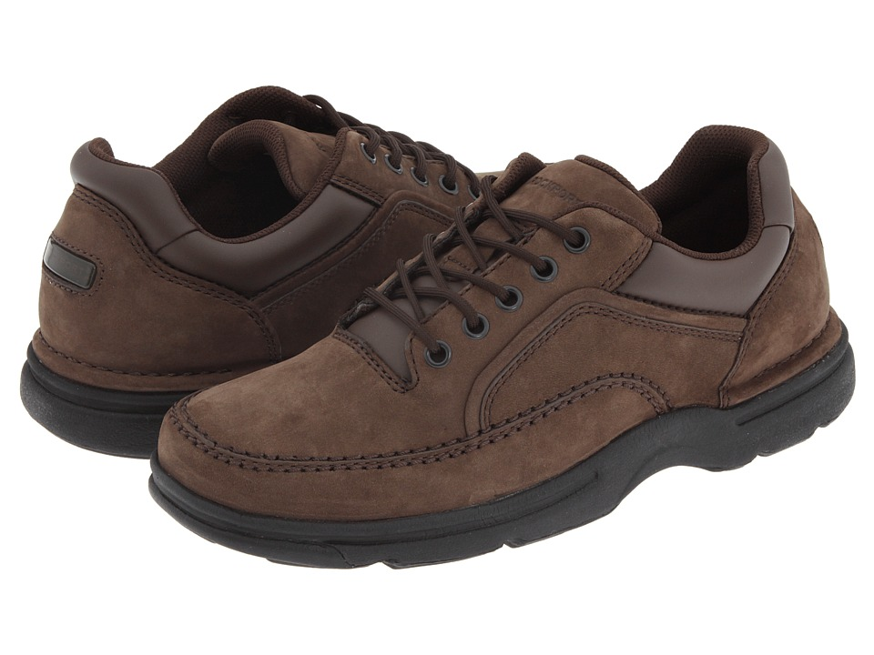 Rockport - Eureka (Chocolate Nubuck) Men's Lace up casual Shoes