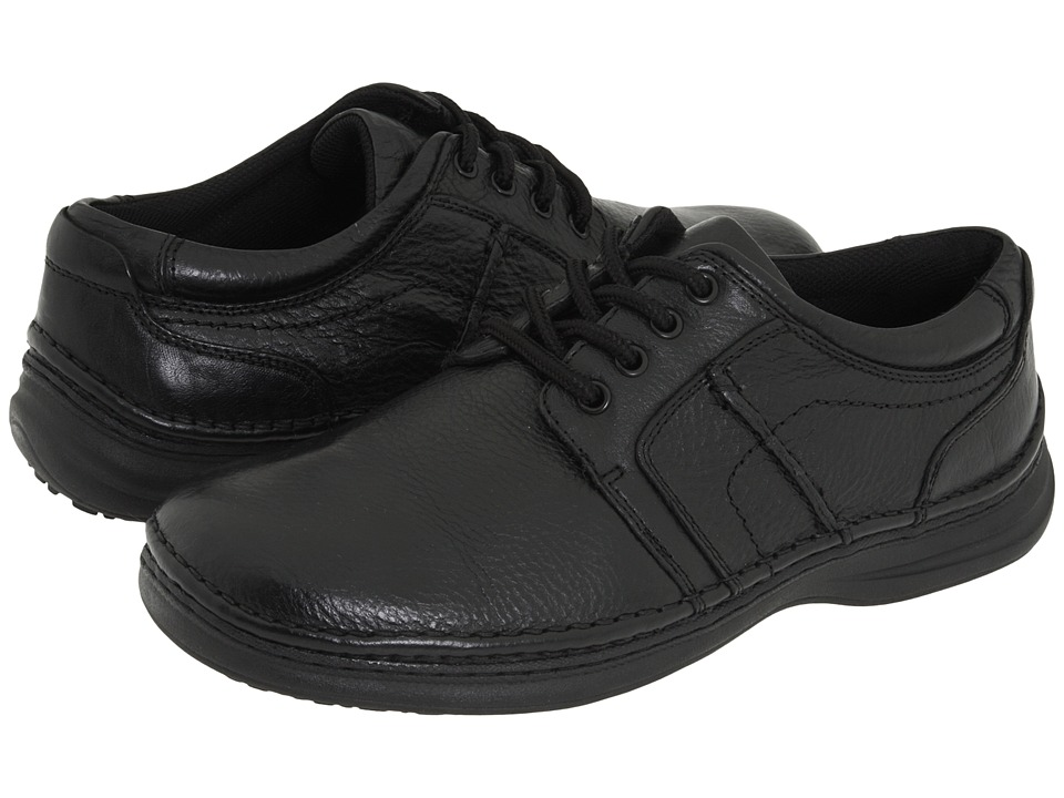 Nunn Bush - Vince (Black Tumbled Leather) Men's Lace up casual Shoes