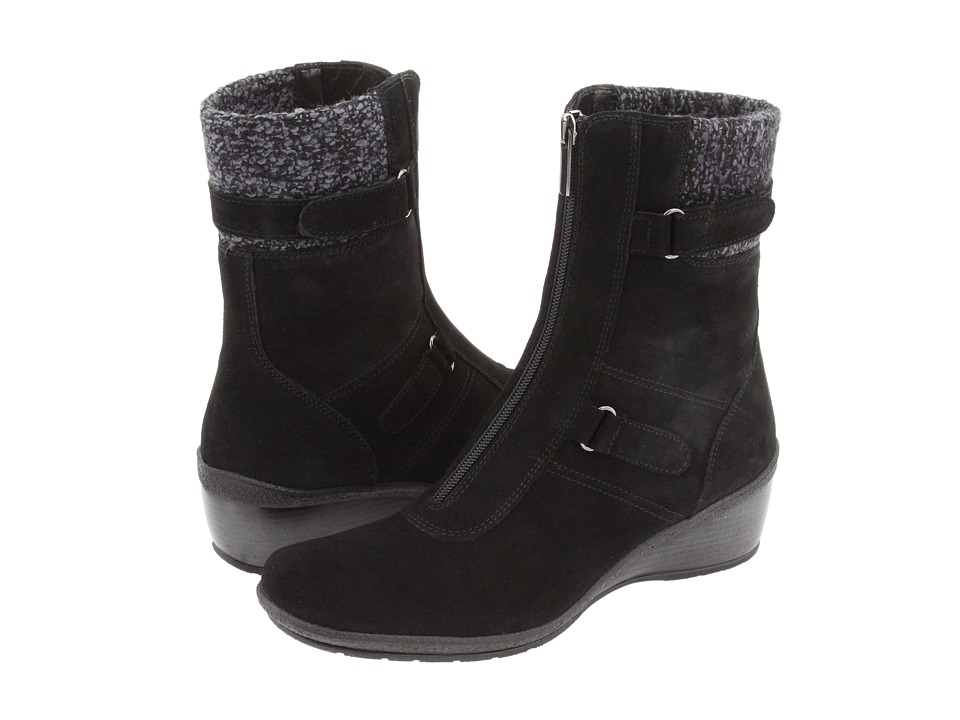 Aquatalia - Mia (Black Suede) Women's Zip Boots