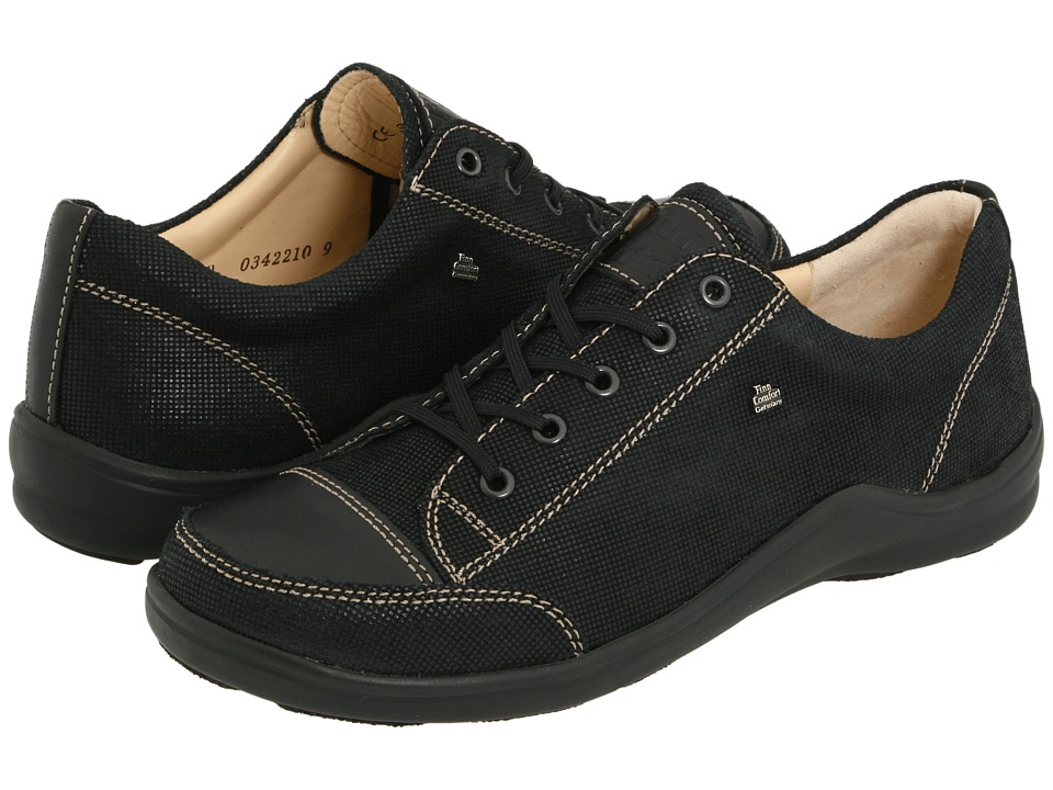 Finn Comfort - Soho - 82743 (Black Points Leather) Women's Lace up casual Shoes