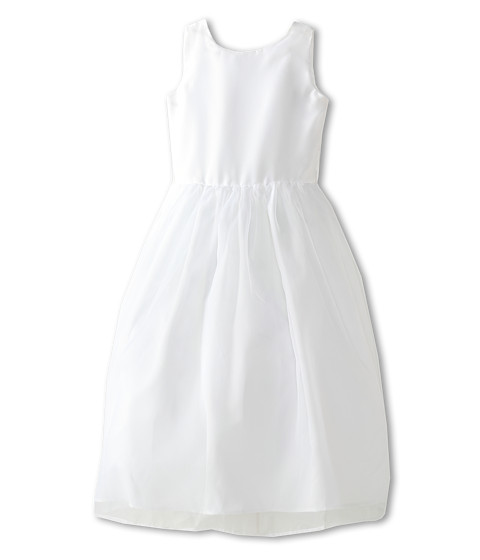 Us Angels - Sleeveless Organza Dress (Big Kids) (White) Girl's Dress