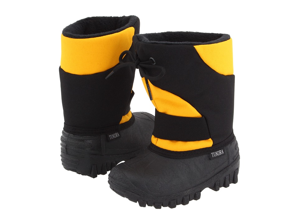 Tundra Boots Kids - Outback (Toddler/Little Kid) (Black/Gold) Boys Shoes