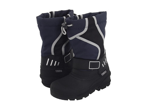 Tundra Boots Kids - Ottawa (Little Kid/Big Kid) (Black/Navy) Boys Shoes