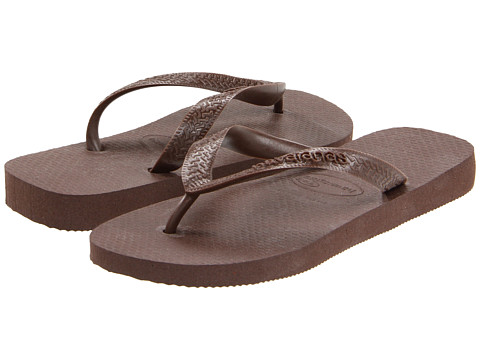 Havaianas - Top Flip Flops (Brown) Women's Sandals