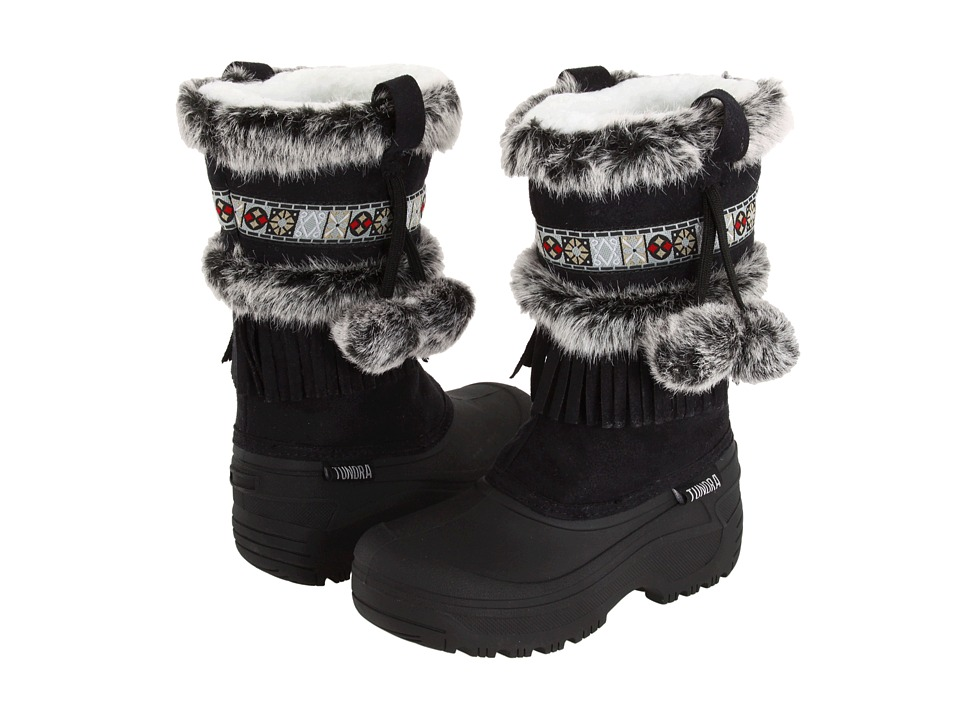 Tundra Boots Kids - Nevada (Little Kid/Big Kid) (Black) Girls Shoes