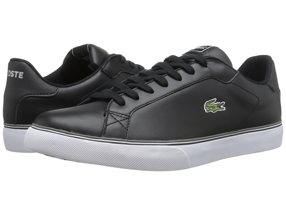 Lacoste - Marling Low (Black/Dark Grey) Men's Lace up casual Shoes