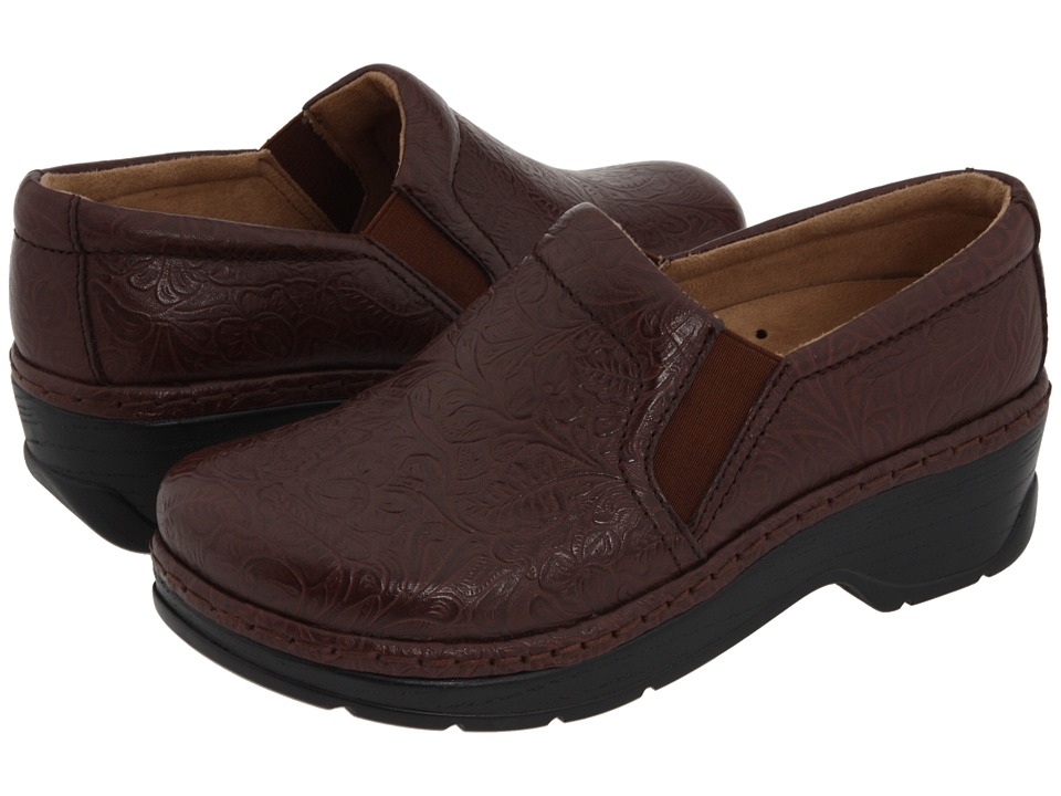 Klogs Footwear - Naples (Coffee Tooled Leather) Women's Clog Shoes