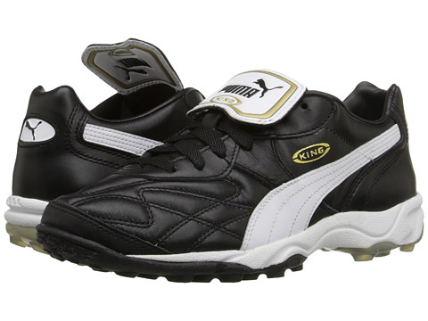 PUMA - King Allround TT (Black/White/Gold) Men's Soccer Shoes