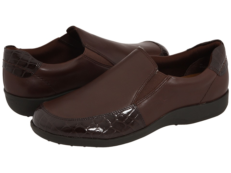 Walking Cradles Andie (Brown Leather/Croco Patent) Women