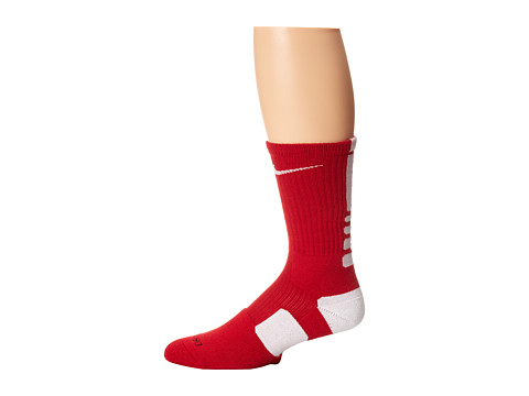 Nike - Nike Elite Basketball Crew 1-Pair Pack (Varsity Red/White/(White)) Crew Cut Socks Shoes