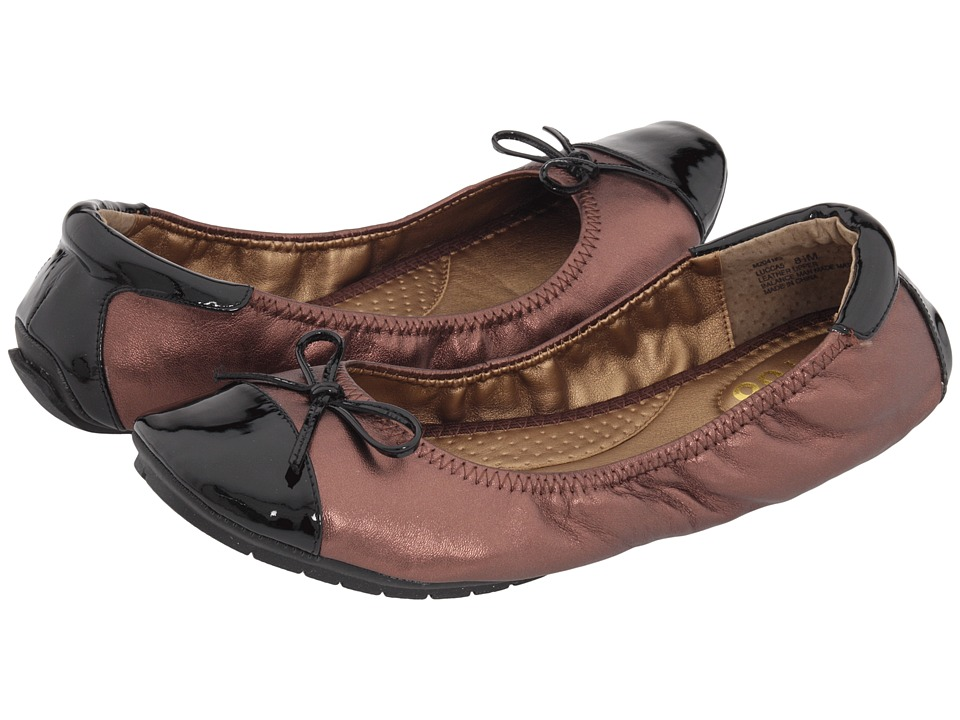 Me Too - Lucca (Bronze) Women's Dress Flat Shoes