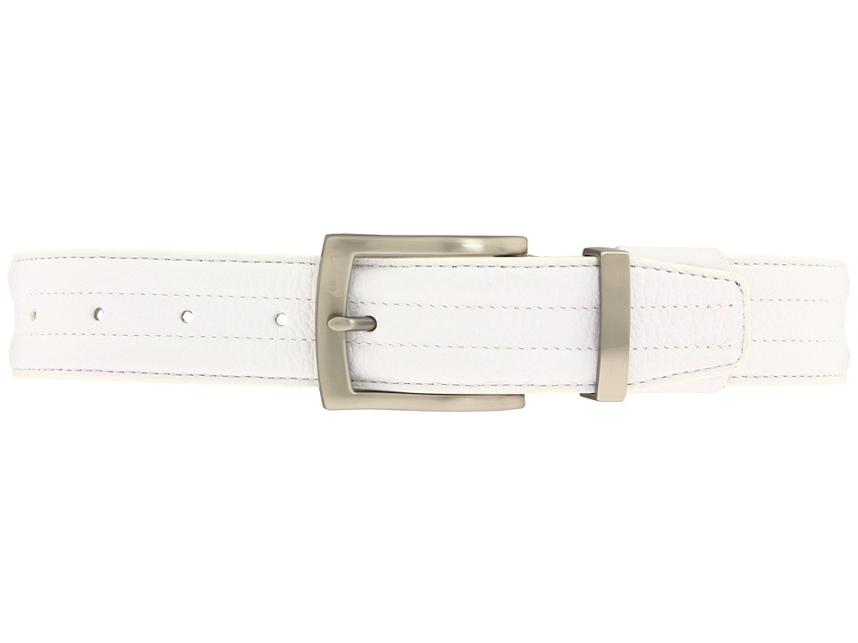 Nike - Tripunto G-Flex Belt (White) Men's Belts