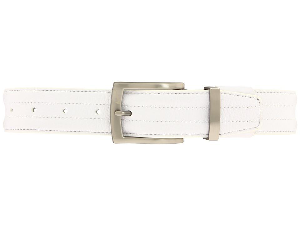 Nike - Tripunto G-Flex Belt (White) Men's Belts