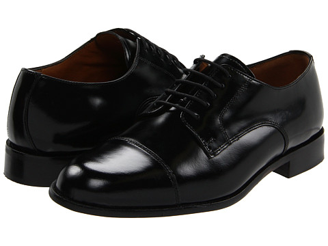 Bostonian Akron (Black Leather) Men's Lace Up Cap Toe Shoes