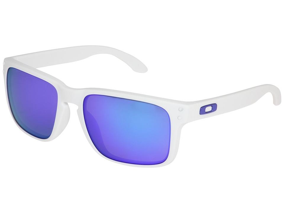 Oakley - Holbrook (Matte White/Violet Iridium Lens) Sport Sunglasses