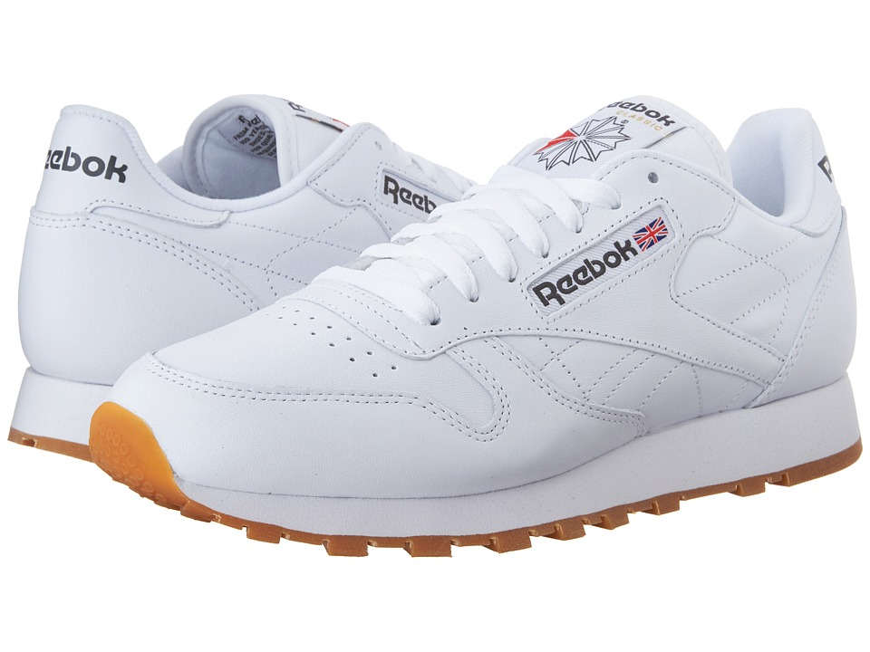 Reebok Lifestyle - Classic Leather (White/Gum) Men's Classic Shoes