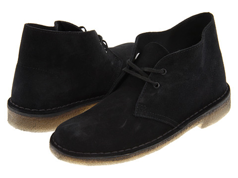 Clarks - Desert Boot (Black Suede) Women