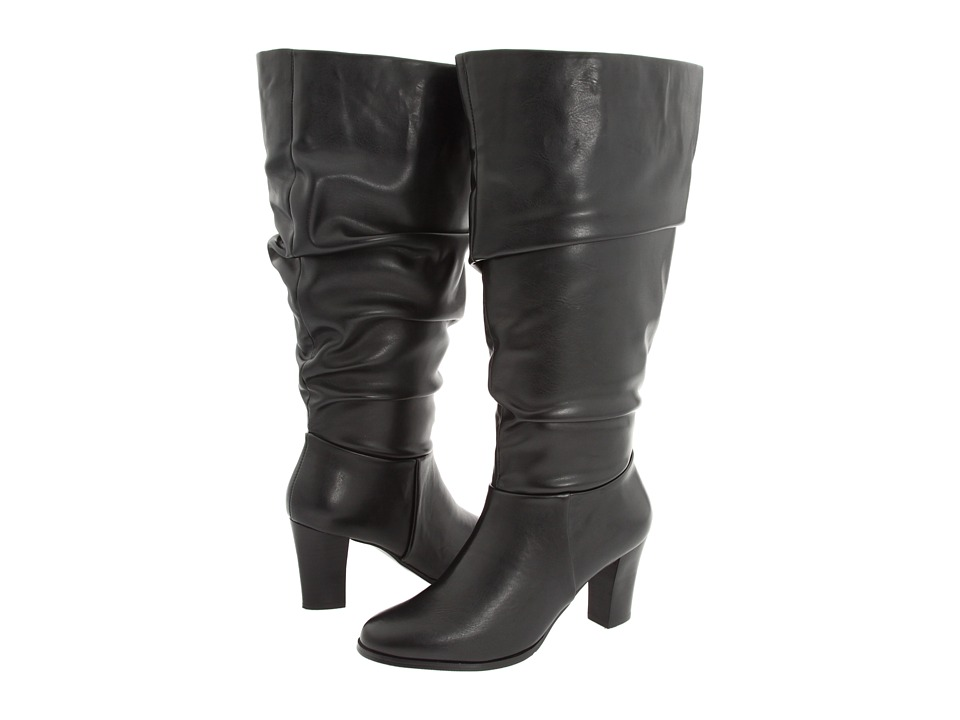 28814326643a David Tate Nevada Wide Shaft Womens Wide Shaft Boots (Black) on ...