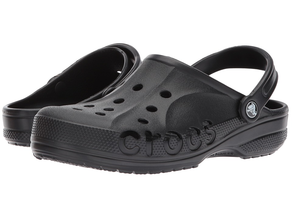 Crocs - Baya (Unisex) (Black) Slip on Shoes