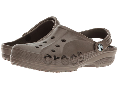 Crocs - Baya (Unisex) (Chocolate) Slip on Shoes