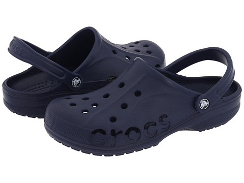 Crocs - Baya (Unisex) (Navy) Slip on Shoes