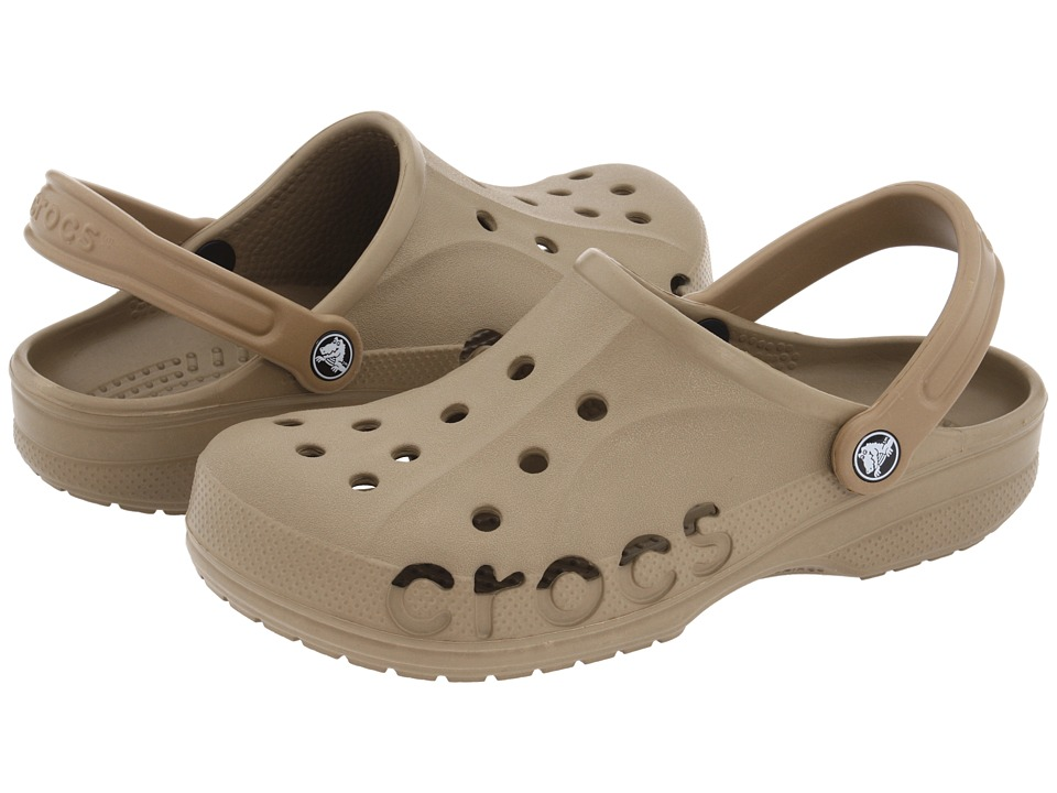 Crocs - Baya (Unisex) (Khaki) Slip on Shoes