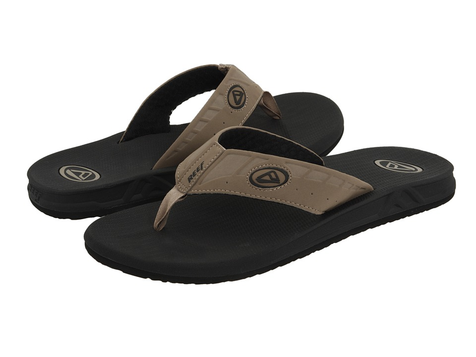 Reef - Phantoms (Black/Tan) Men's Sandals