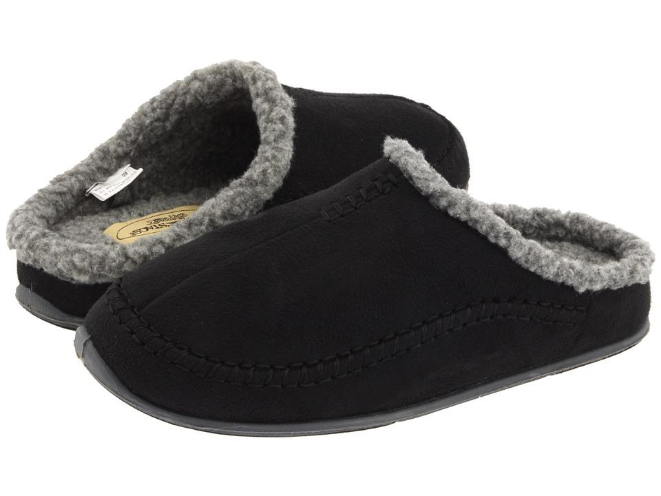 Deer Stags Nordic Mens Slippers (Black)