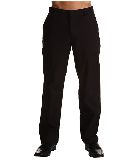 Dockers Men's - Clean Khaki D2 Straight Fit Flat Front (Black) Men's Casual Pants