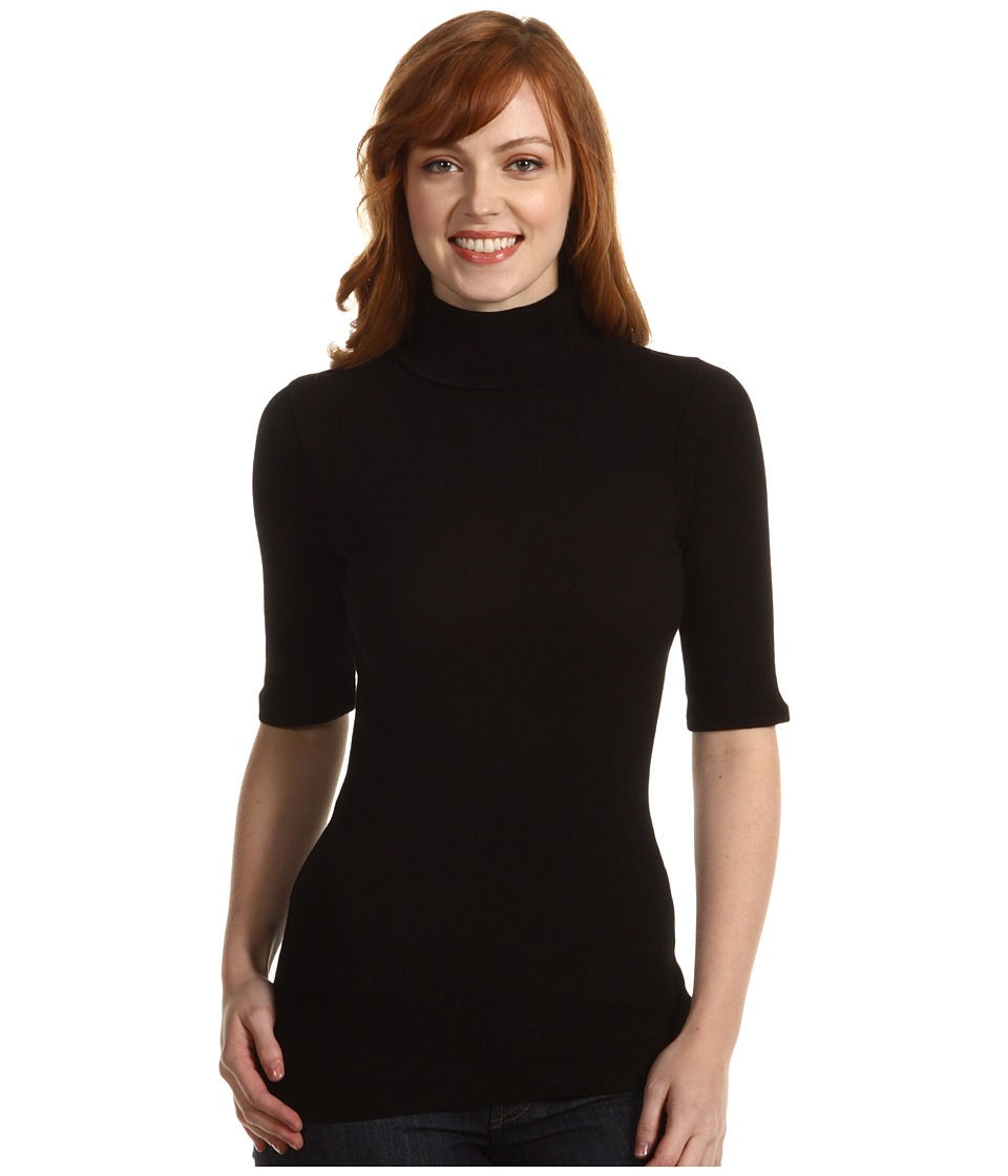 Michael Stars - Elbow Sleeve Turtleneck (Black) Women's Clothing