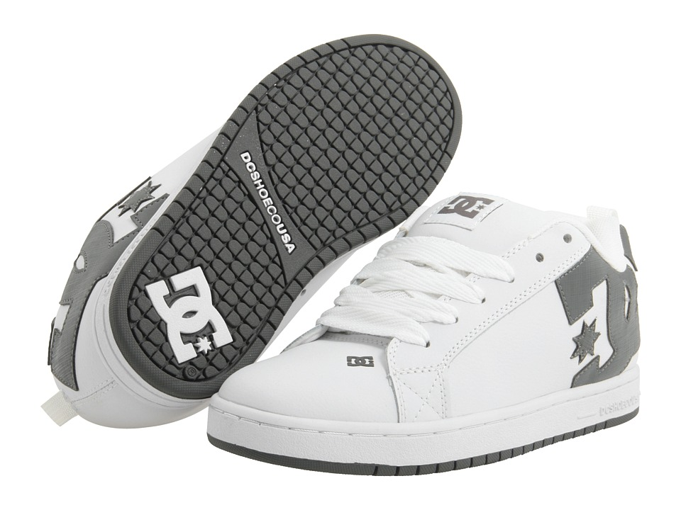 DC - Court Graffik (White/White/Battleship) Men's Skate Shoes