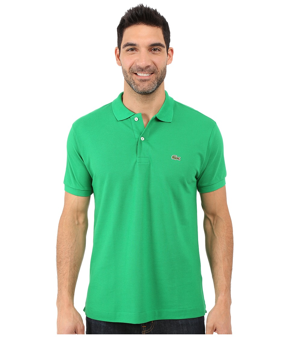 Lacoste - L1212 Classic Pique Polo Shirt (Chlorophyll Green) Men's Short Sleeve Knit