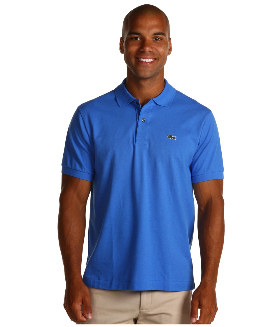 Lacoste - L1212 Classic Pique Polo Shirt (Gipsy Blue) Men's Short Sleeve Knit