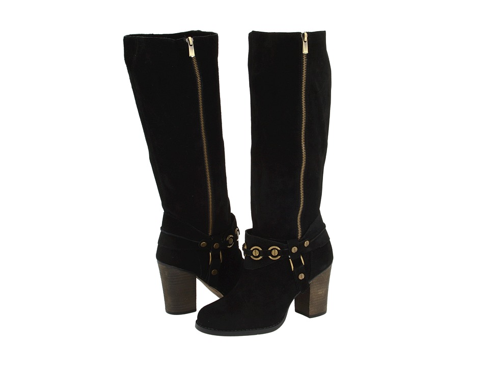 Chinese Laundry - Backstreet (Black Suede) Women's Zip Boots