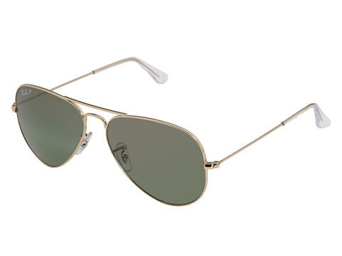 Ray-Ban - RB3025 Original Aviator Polarized 58mm (Gold/Green Mirror Silver Lens) Sport Sunglasses