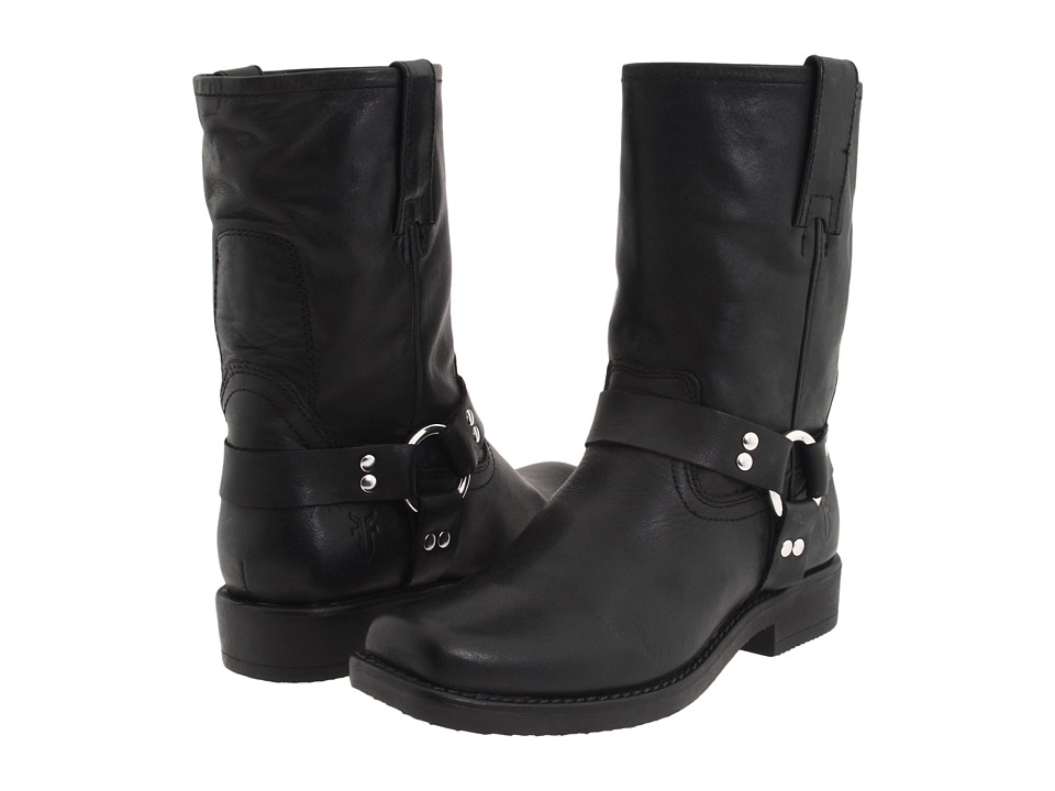 Frye Kids Harness Pull On (Toddler/Little Kid/Big Kid) (Black 2) Cowboy Boots