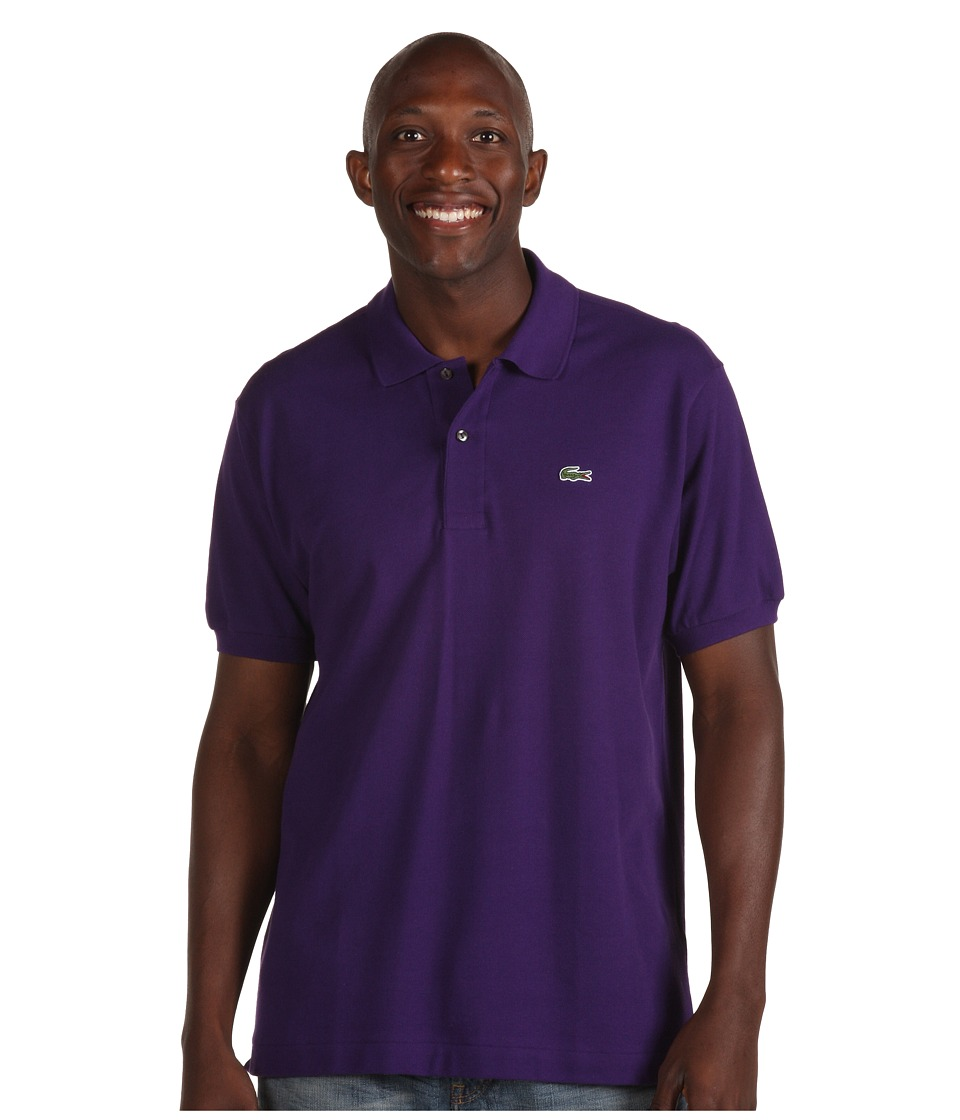 Lacoste - L1212 Classic Pique Polo Shirt (Tanzanite Purple) Men's Short Sleeve Knit