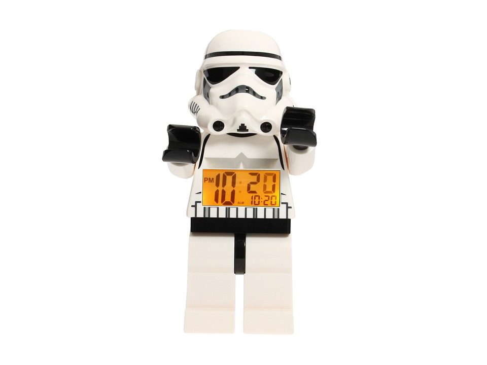 LEGO Kids - Kids Star Wars Storm Trooper Minifigure Clock (One Color) Gifts
