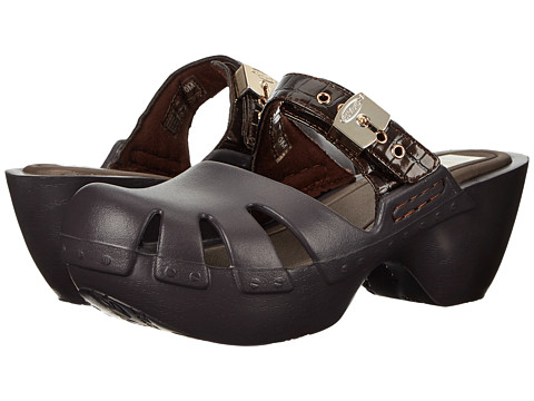 Dr. Scholl's - Dance (Dark Brown Croc) Women's Clog/Mule Shoes