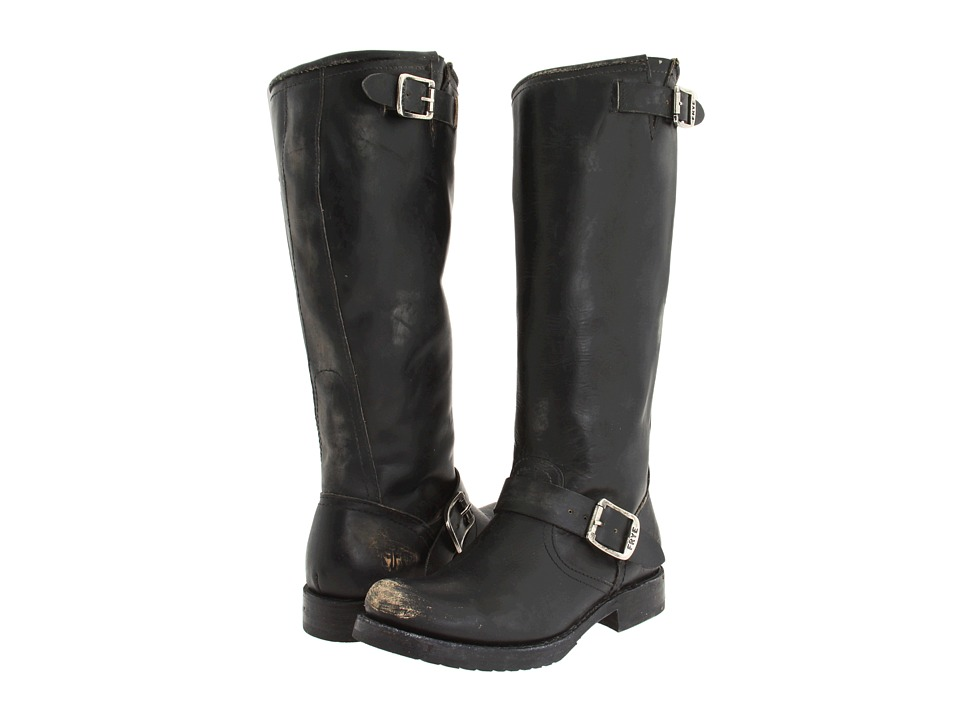 Frye - Veronica Slouch (Black Stone Wash) Women's Pull-on Boots